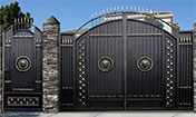Красивые ворота для забора