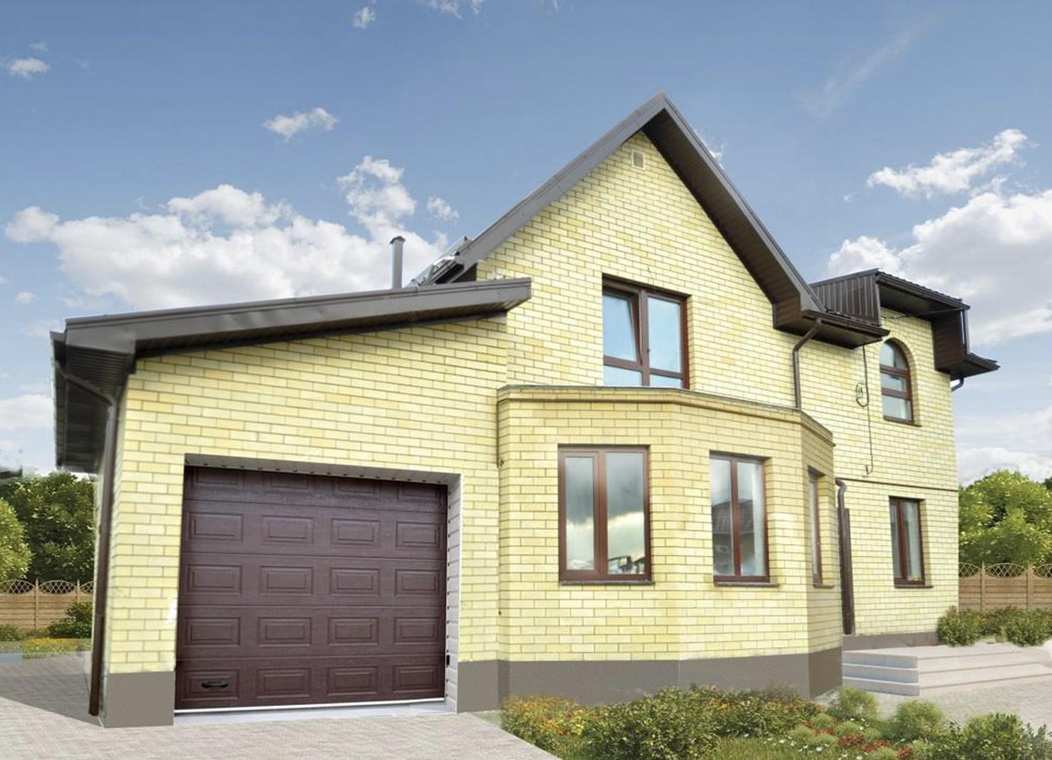 Желтый дом из кирпича