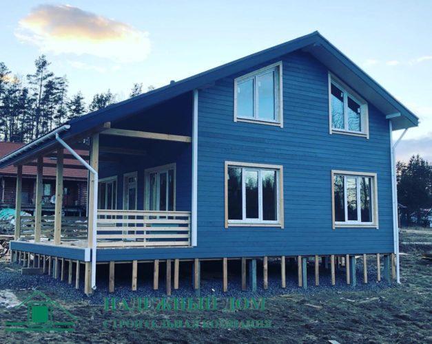 Каркасный дом по проекту Авис СНТ Лунное Озеро