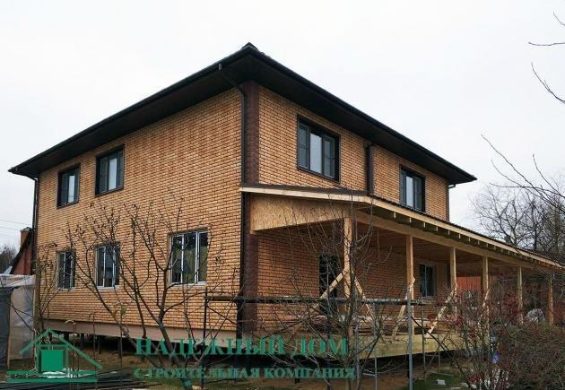 Строительство каркасного дома по индивидуальному проекту 13х14 м в городе Тихвин