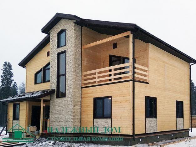 Строительство каркасного дома по индивидуальному проекту 10,5х10,8 м в городе Пушкин