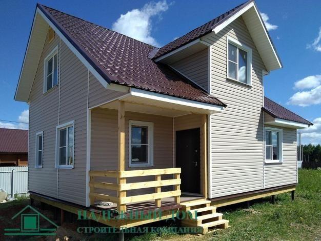 Строительство каркасного дома по индивидуальному проекту 7,2х9,0 м в городе Тосно