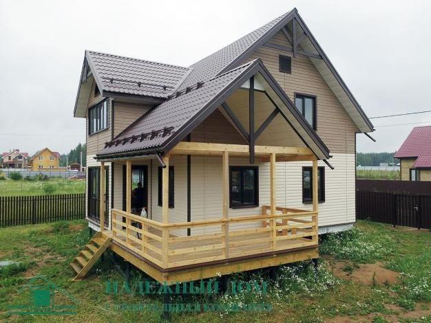 Строительство каркасного дома по индивидуальному проекту 12,0х12,5 м в городе Тосно