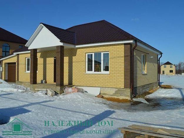 Строительство одноэтажного дома с гаражом в Гатчине