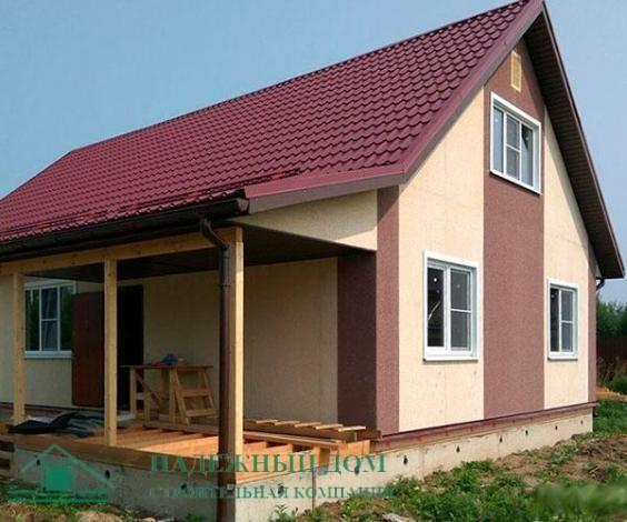 Строительство каркасного двухэтажного дома в городе Приозерск