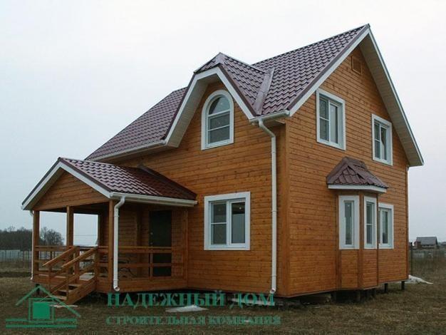 Строительство каркасного двухэтажного дома в городе Луга