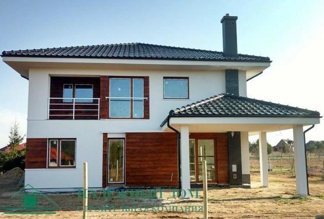 Строительство двухэтажного дома из газобетона в городе Сертолово