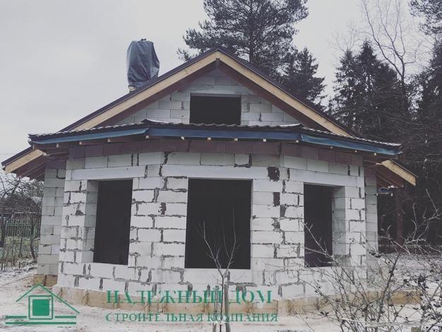 Строительство дома из газобетона 10х14м Лен.обл. Гатчинский р-н п.Карташевская