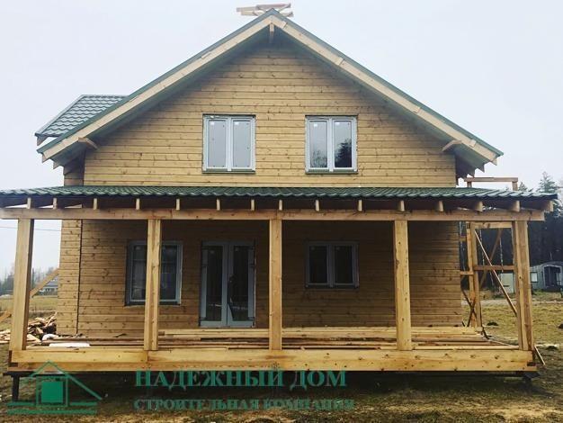 Строительство каркасного дома 8х13м.Лен.обл. Коробицыно СНТ Большая Медведица