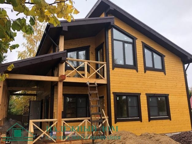 Строительство каркасного дома 9х11м п.Верхние Осельки