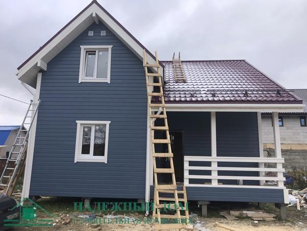 Строительство каркасного дома размером 8х8,5м. г.Стрельна