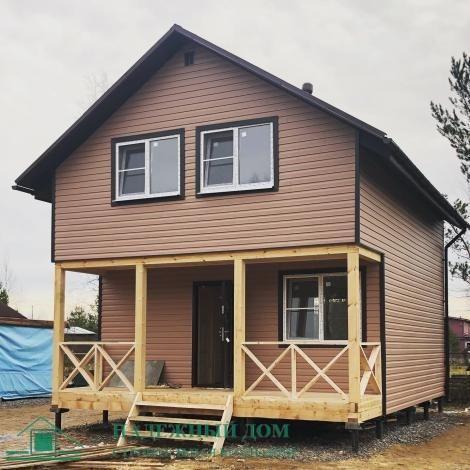 Строительство каркасного дома размером 6х7,5м. СНТ Апраксин