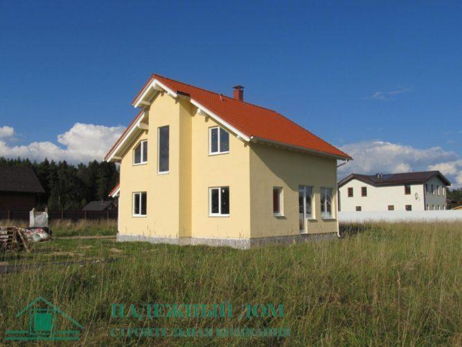 Строительство дома из газобетона по индивидуальному проекту д.Вартемяги