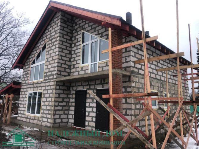 Строительство дома из газобетона п.Ушаки